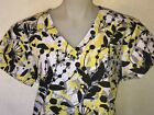 S M L XL 2XL WHITE BLACK YELLOW GRAY FLORAL V NECK SCRUB TOP