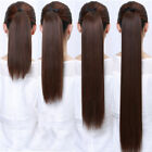16-24inch Charming  Human Hair Extension Straight ponytail 80g Real Hairpieces
