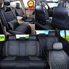 M L Size 5-Seats Car PU Leather Seat Covers Sedan SUV Front Rear Free Pillow Set $ USD