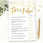Baby Shower Games True or False Quiz ~ Boy / Girl / Unisex (20 Player) (G26)
