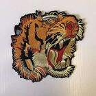 X-Large TIGER HEAD BACK PATCH Embroidered Badge Iron Sew 18cm x 18cm NEW