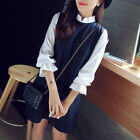 Fashion Korean Womens Long Sleeve Evening Party Casual Loose A Line Shirt Dress