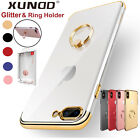 iPhone X 8 7 Plus Case Slim Clear Shockproof Hard Bumper Kickstand Cover F Apple