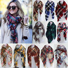 Women's Blanket Oversized Tartan Scarf Wrap Shawl Plaid Cozy Checked Pashmina