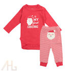 My First Christmas Baby Boys Girls Romper Bodysuit & Pants Clothes Outfits 3-12M