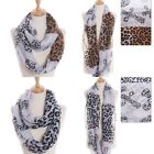 Scarf Leopard Cross Pattern Infinity Spotted Animal Two Tone Cheetah Jaguar New