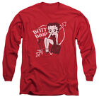 Betty Boop LOVER GIRL Heart Arrow Licensed Adult Long Sleeve T-Shirt S-3XL $24.8 USD on eBay