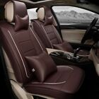 ON SALES Car Auto Seat Cover Set Cushion Protector 5-Seats PU Leather Universal