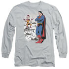 Superman DISBELIEF Licensed Adult Long Sleeve T-Shirt S-3XL