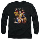 Star Trek Original Cast AT THE CONTROLS Licensed Adult Long Sleeve T-Shirt S-3XL
