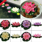 Artificl Water Lily Lotus Floating Flower Garden Pool Pond Tank Plant Ornament F