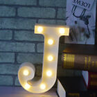 Alphabet Led Letter Lights Light Up White Plastic Letters Standing Hanging A z