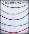 Genuine 1.5mm Greek Leather Necklace Cord/Choose Color,Clasp & Length/5 Colors