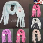 Внешний вид - Girl Children Kid Fuzzy Cozy Super Soft SCARF Wrap Thick Faux Fur Warm Winter