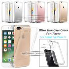 Clear Soft Cover Case TPU Silicone Jelly Skin For iPhone X 7 Plus 6 6S Plus 5 SE