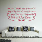 Feel with the Heart- Motivational Quote Decals Vinyl Wall Stickers Girl's Decor