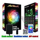 Addmotor 12X Motorcycle LED RGB Light Strips Tape Kit APP Remote Controller Gift