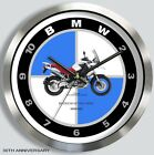 BMW R1200GS MOTORCYCLE METAL WALL CLOCK 2008 2009 2010 2011 choice of 9 colors