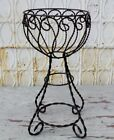 """22"""" Wrought Iron Twisted Planter Decorative Plant Container"""
