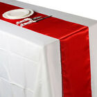 """12"""" x 108"""" Fashion Satin Table Runner Wedding Party Home Decorations SD"""