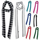 Women Skinny Scarf Satin Long Slim Ribbon Thin Fashion Ladies Scarves