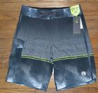 Ocean Current Board Shorts Swim Shorts Stretch Waist Gray Palm Tree Size 28