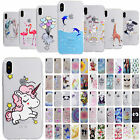 Cute Pattern Ultra-Thin Soft TPU Protective Clear Gel Case Cover For iPhone X 10