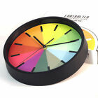 10in 3D Wall Clock Silent Movement Rainbow Kitchen Living Room Decor Round Clock