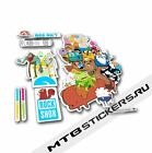 New Custom Rock Shox Sector Recon Totem Adventure Time stickers kit decals pack