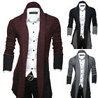 Fashion Mens Stylish Slim Fit Knitted Collared Cardigan Long Sweater Coat Jacket