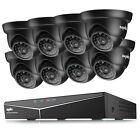 SANNCE 5in1 1080P HDMI 8CH DVR 1500TVL 720P IR CCTV Security Camera System 1TB
