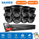 SANNCE 5in1 1080P HDMI 8CH DVR 1500TVL 720P IR CCTV Security