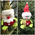 10CM CHRISTMAS PLUSH FIGURINE - FATHER CHRISTMAS SANTA SNOWMAN DECORATION GIFT