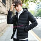 Casual Men's Hooded Cotton Coats Warm Stand Collar Parka Winter Outwear Jackets