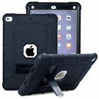 For Apple iPad 9.7 2017 5th Gen A1822 A1823 Shockproof Hybrid Rubber Stand Case