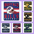 NFL Licensed Marque Soft Fleece Plush Afghan Throw Blanket - Choose Your Team
