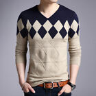 Men Pullovers Cashmere Wool Sweater Long Sleeve Tops Sweaters Male Pullover