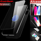 Front & Back Tempered Glass Screen Protector Full Cover For iPhone X 8 / 7 Plus