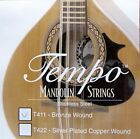 Tempo Mandolin strings Loop ended stainless steel Bronze or silver plated  wound for sale