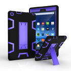 For Amazon Kindle Fire HD 8 2017 7th Gen Shockproof Rubber Stand Hard Case Cover
