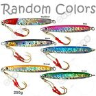 1 to 30pcs Fishing 9oz 250g Vertical Speed Knife Fish Jig Lures Random Color lot