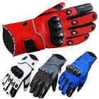 Leather Waterproof Motorcycle Gloves Motorbike Biker Racing Winter Gloves