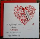 """Handmade 6"""" Square Personalised Valentine's Day Card"""