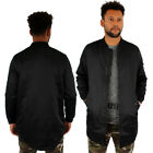 Slim Fit Long MA1 Bomber Jacket Army Military by Streetwear Special