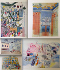RAOUL DUFY LITHOGRAPH Collectible Aquarelle PRINT RARE Plate Signed Venice, Nice
