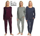 NWT FELINA Lounge Set Drawstring Slub Jogger Pajama comfy long sleeve top pants