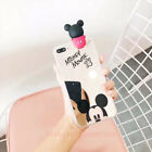 Lovely Mirror Mickey Minnie Mouse Doll Soft Case Cover for iPhone X Samsung S8+