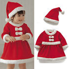 newborns with gas - Newborn Baby Girls Christmas Bowknot Dress Red with Hat Santa Cosplay Costume US