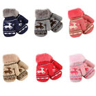 Внешний вид - Christmas Infant Kids Baby Girl Boy Winter Warm Gloves Thick Fur Knitted Mittens