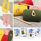 Cotton Cute Fruit Print Women's Socks Retro Embroidery Long Colorful Funny-Sock0